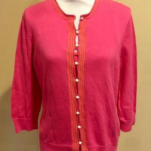 Lilly Pulitzer Pink Cardigan and Shell